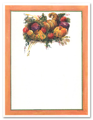 5 Images of Harvest Printable Stationery