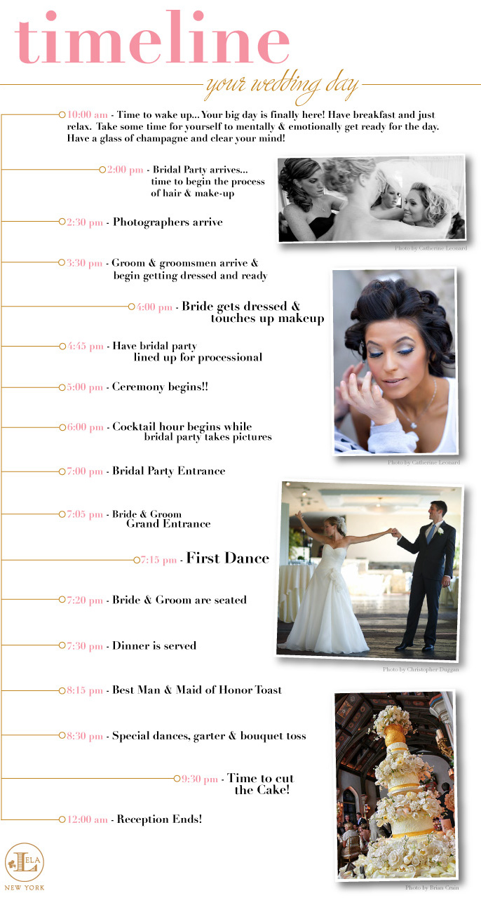 9 Images of Printable Wedding Day Timeline