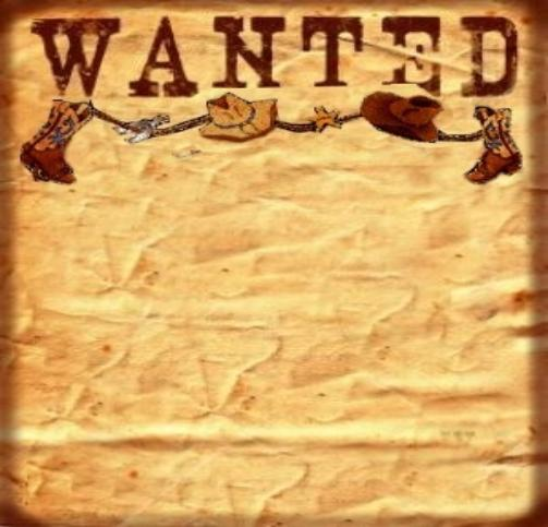 ... Most Wanted Poster Template & Old Western Wanted Poster Clip Art Free