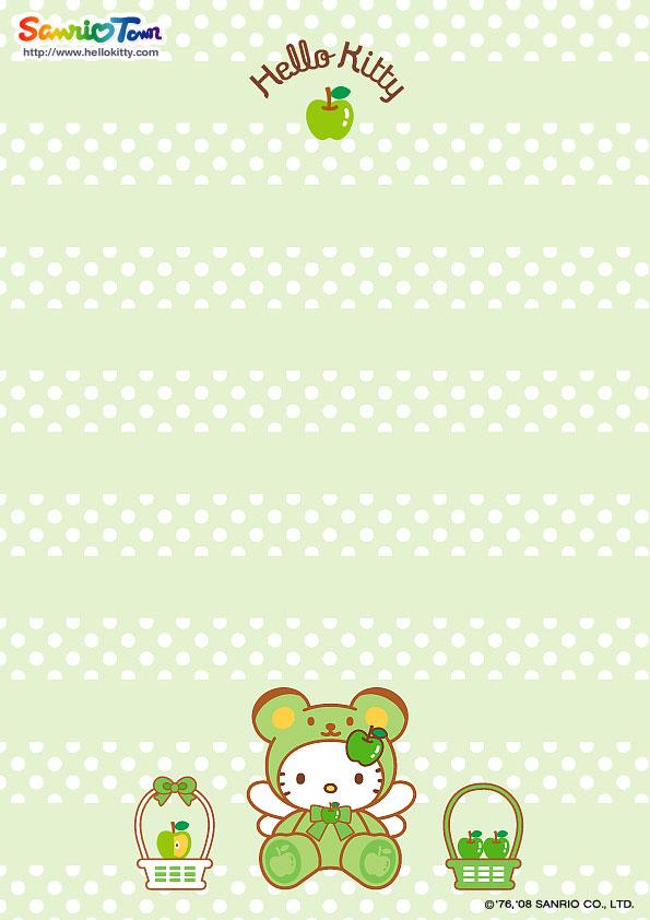 Hello Kitty Stationary Printable