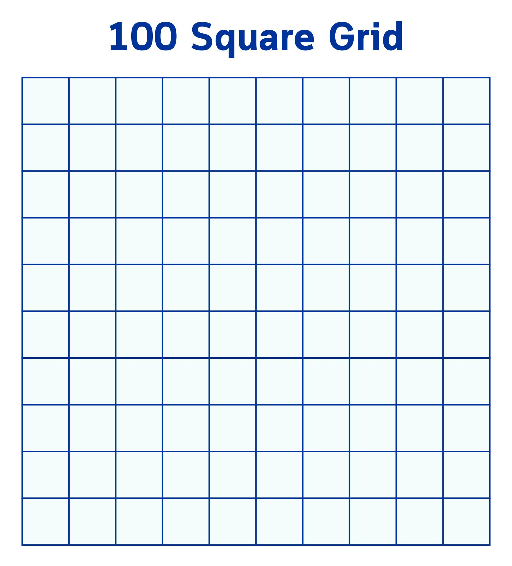 ... Printable 100 Square, Hundred Printable 100 Square Grid and Printable