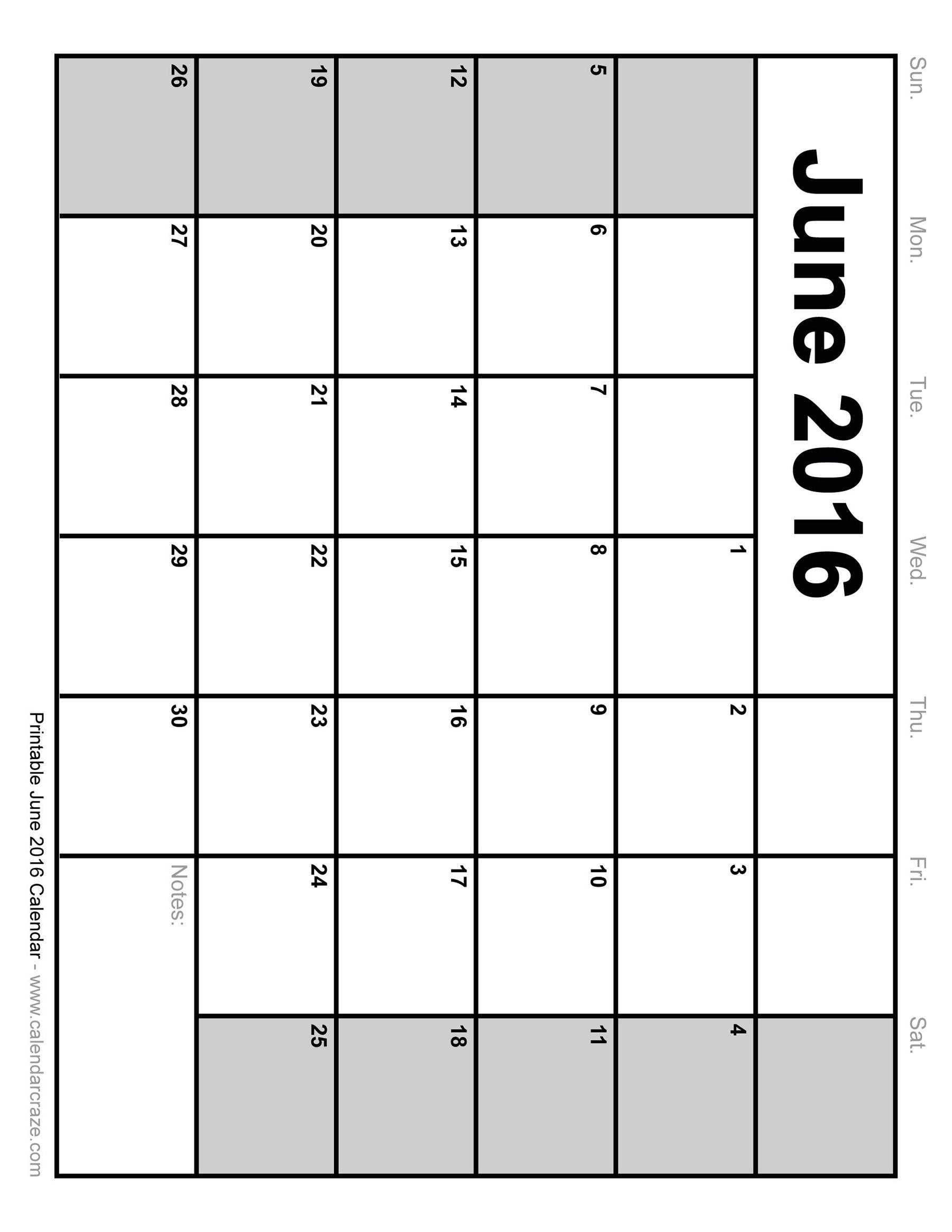 7 Images of 2016 Printable June Calendar