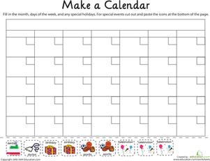 7 Best Images of Kindergarten Worksheets Printable Calendar - Free ...