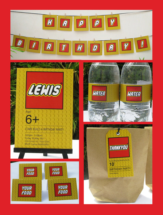 5 Images of LEGO Party Free Printables