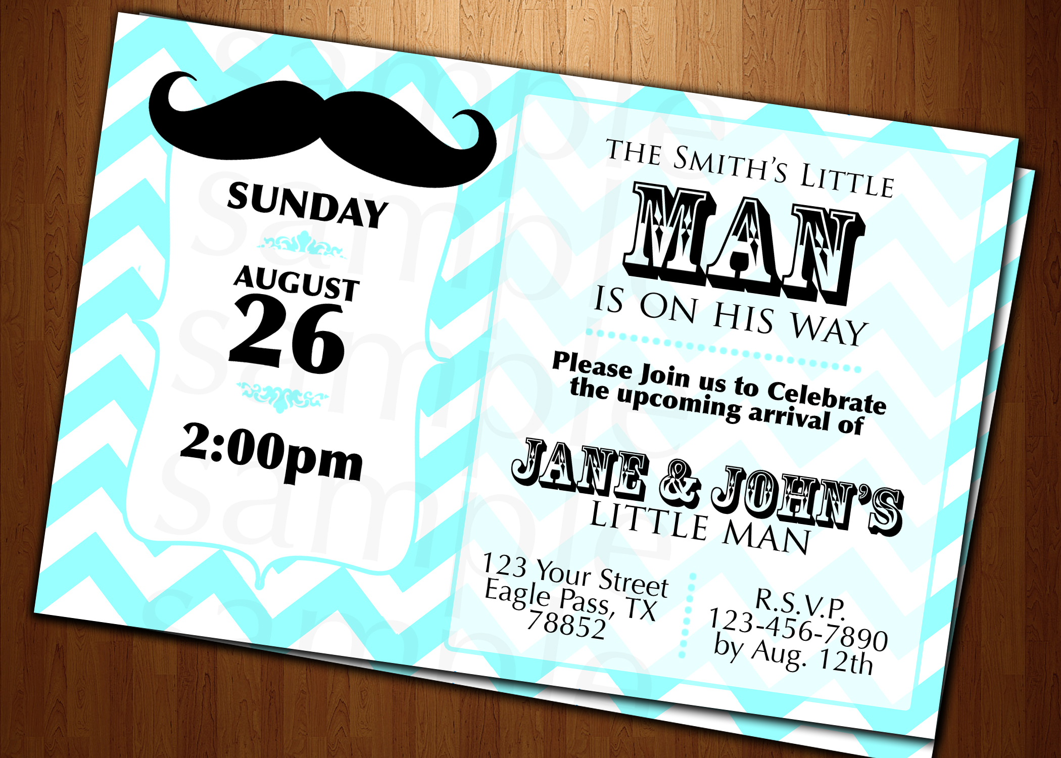7 Images of Mustache Baby Shower Invitation Cards Free Printable