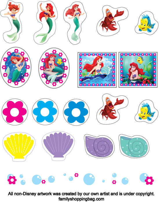 5 Images of Little Mermaid Printables