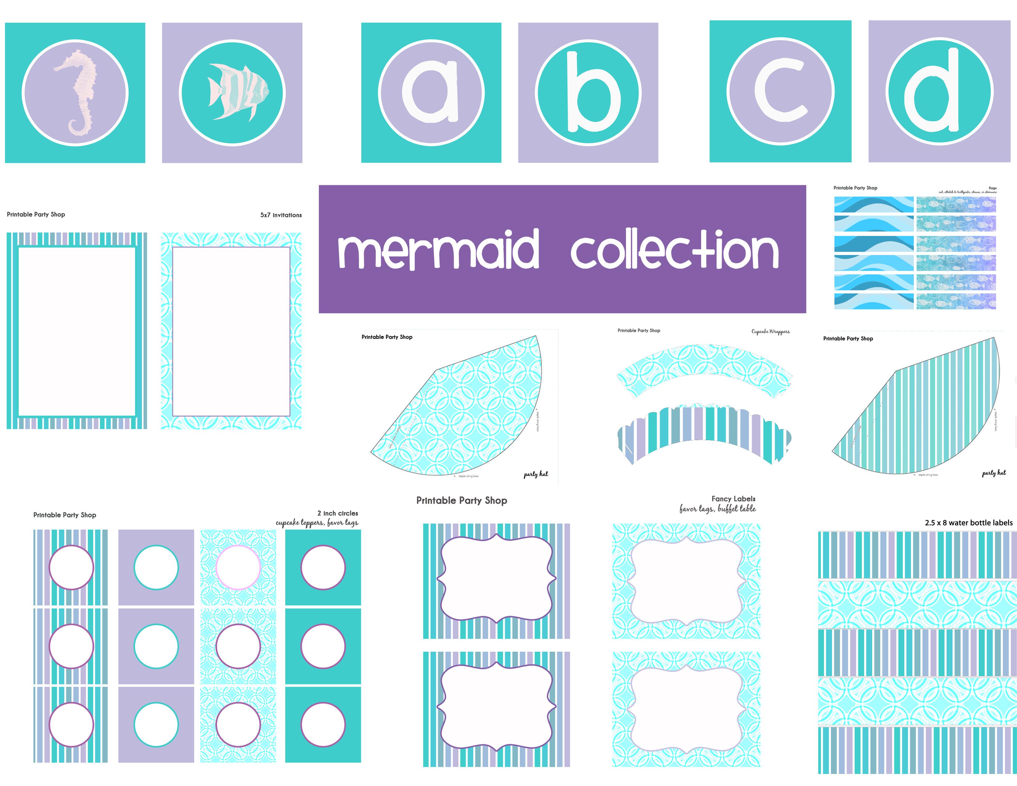 Cupcake toppers, Mermaid invitations and Mermaids on Pinterest
