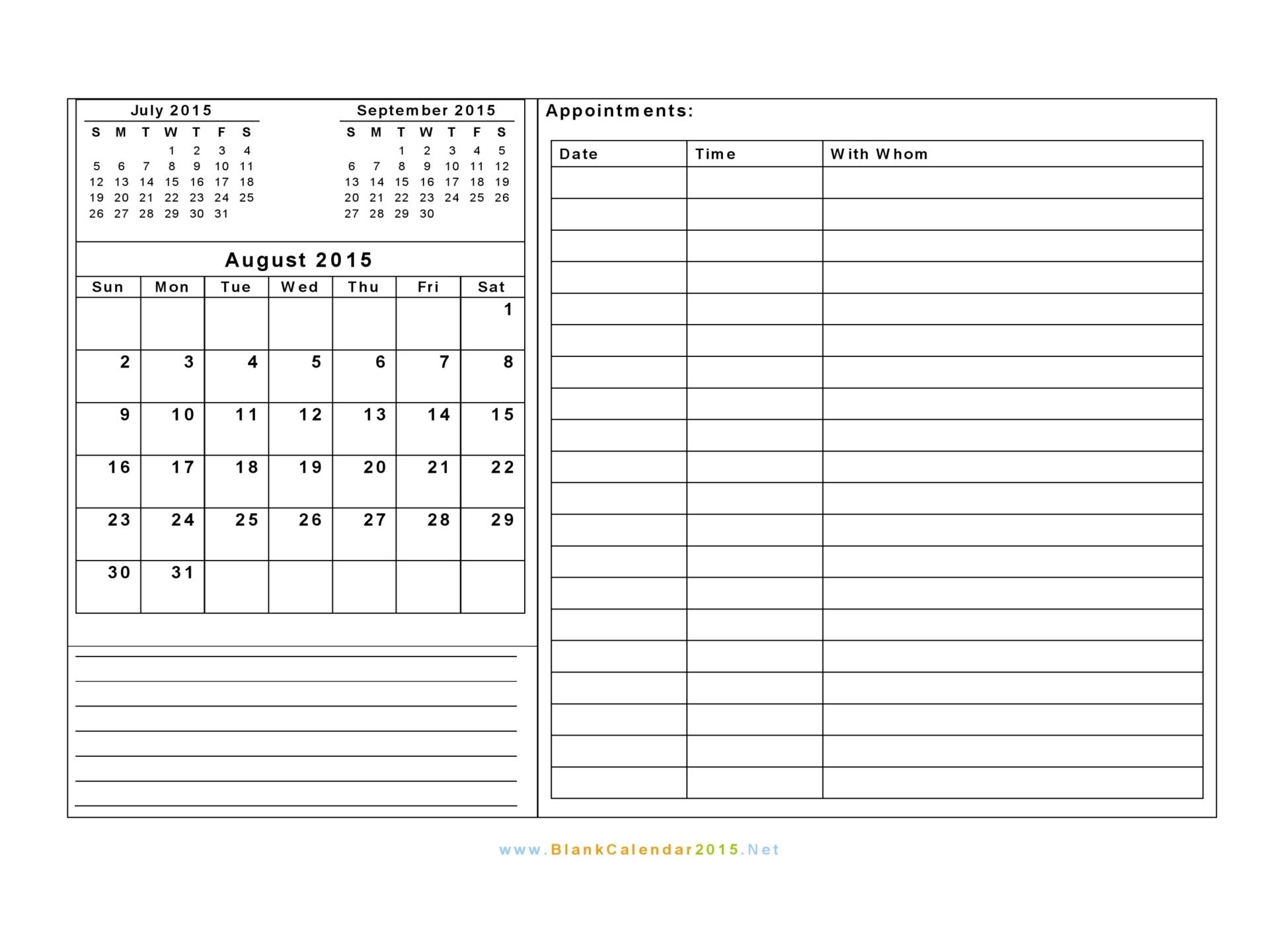 7 best images of free printable blank calendar template
