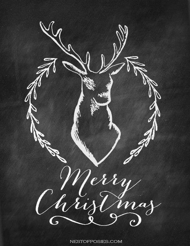 Merry Christmas Chalkboard Printable