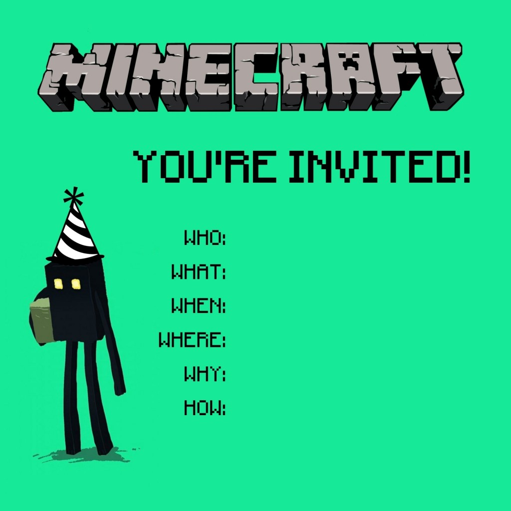 8 Images of Minecraft Birthday Printables