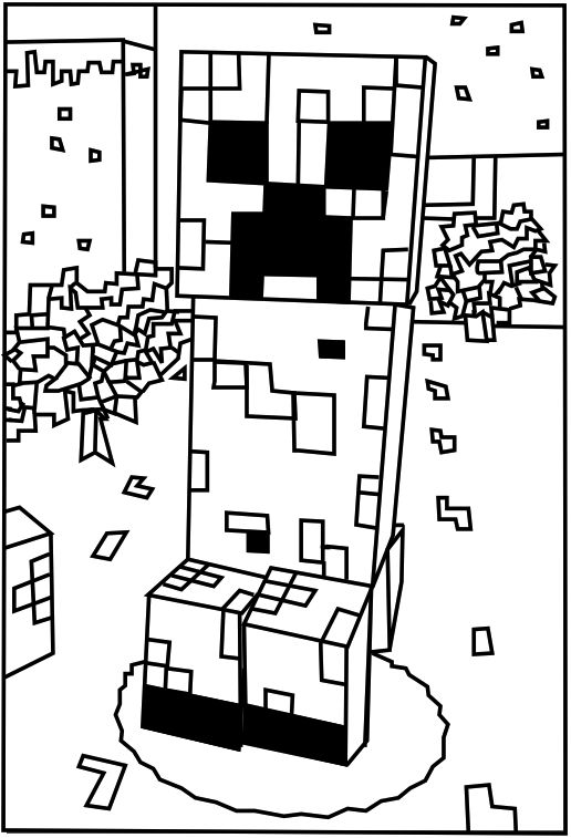 - 6 Best Images Of Minecraft Printable Birthday Cards For Boys To Color - Minecraft  Coloring Pages, Free Printable Birthday Cards To Color And Free Printable  Minecraft Birthday Party Invitation / Printablee.com