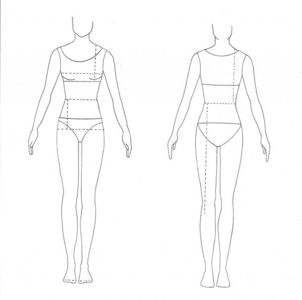 8 best images of printable clothing design templates for Textiles body templates