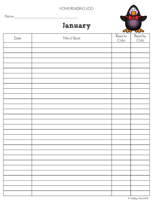 5 Images of Printable Monthly Log