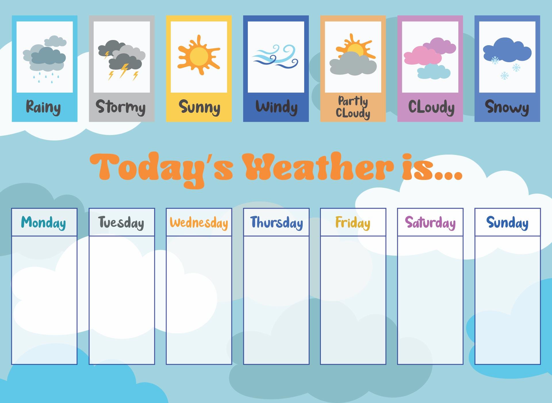 Preschool Weather Chart Graph