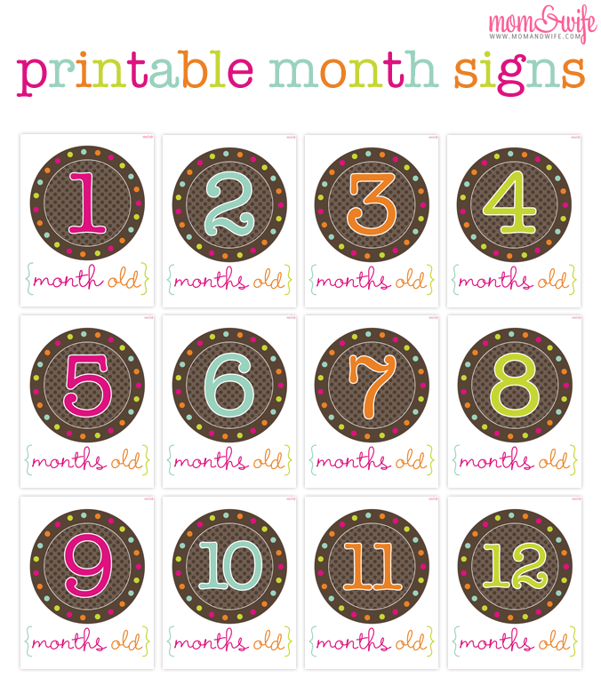 7 Images of Monthly Baby Printables