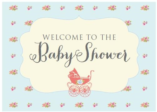 7 Images of Printable Baby Shower Signs