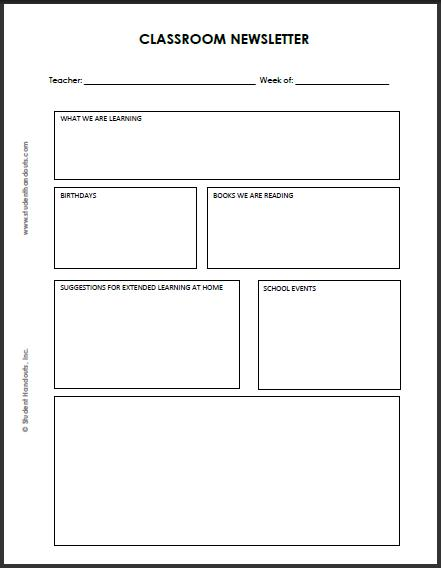 6 Images of Printable Newsletter Templates