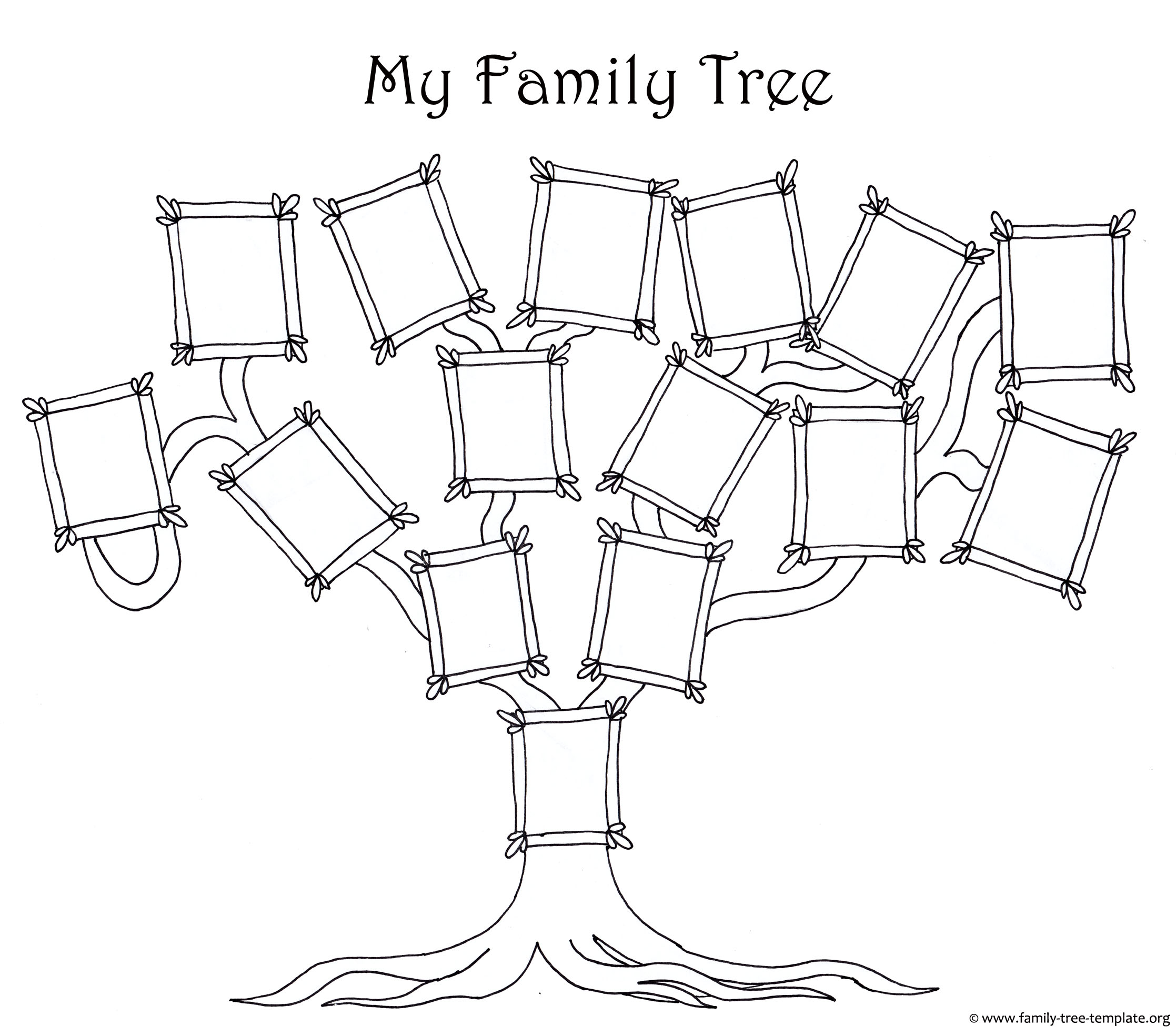 6 best images of free printable family tree diagram free