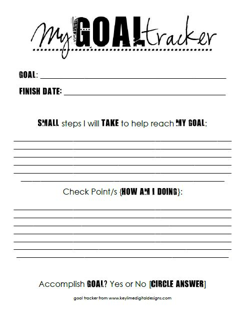 6 Images of Printable Goal Sheets For Students