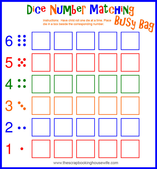 7 Images of Printable Number Matching Game