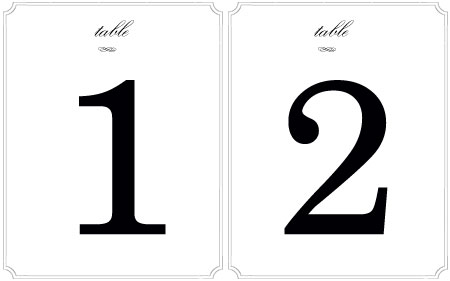 5 Images of Round Table Numbers Printable