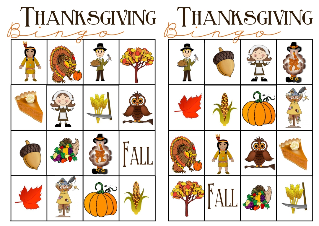 5 Images of Printable Thanksgiving Matching Games