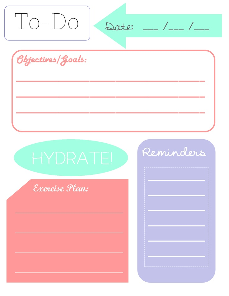 5 best images of printables daily planners do lists free for To do planner online