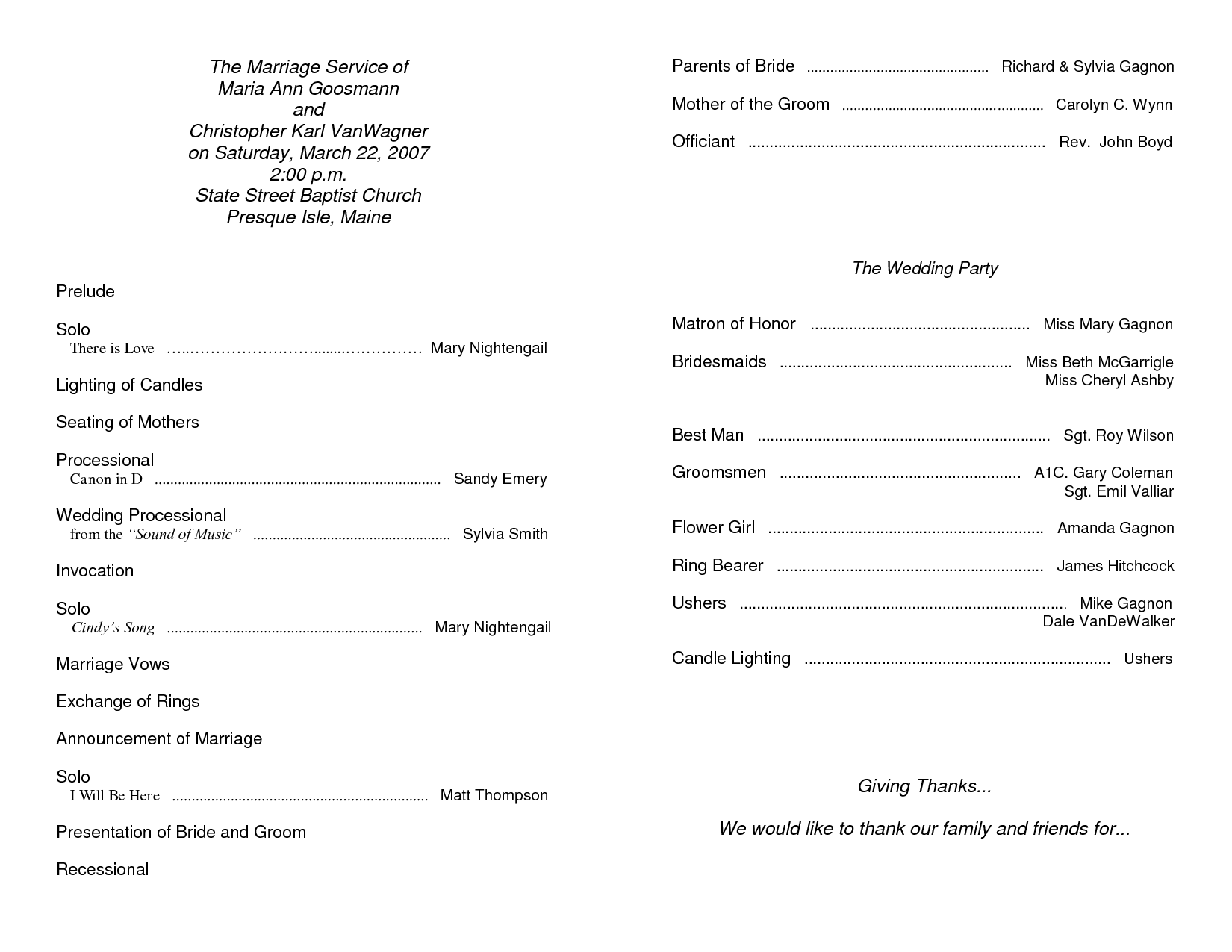 6 best images of free printable church program template for Sample church bulletins templates
