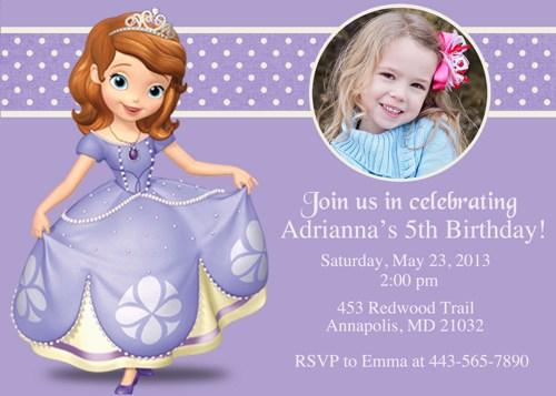 8 Images of Free Printable Princess Sofia Invitations