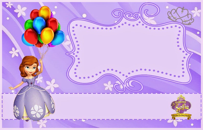 8 Best Images of Free Printable Princess Sofia Invitations - Sofia the First Birthday Party ...