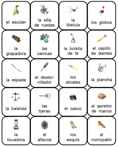 6 Images of Printable Spanish Vocabulary Flash Cards