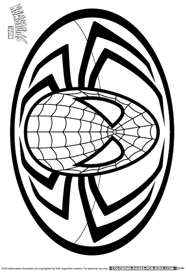 coloring pages spiderman easy symbol - photo#4