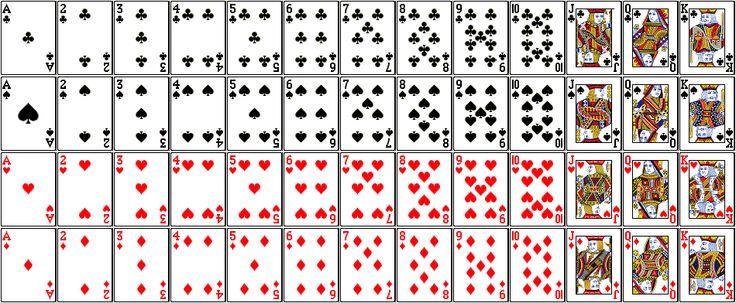 7 best images of deck of 52 printable cards standard playing card deck standard 52 deck of. Black Bedroom Furniture Sets. Home Design Ideas