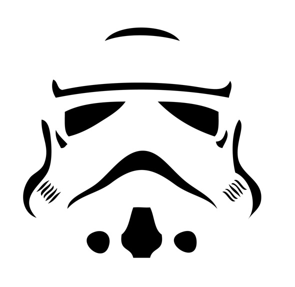 6 Images of Star Wars Pumpkin Stencils Printable