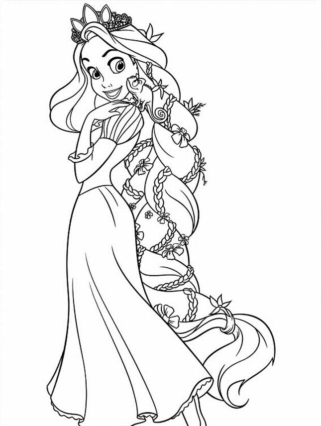7 Images of Tangled Coloring Pages Printable