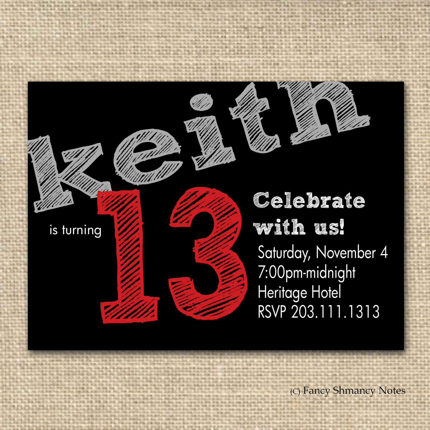 6 Images of 13th Birthday Party Invitations Printable