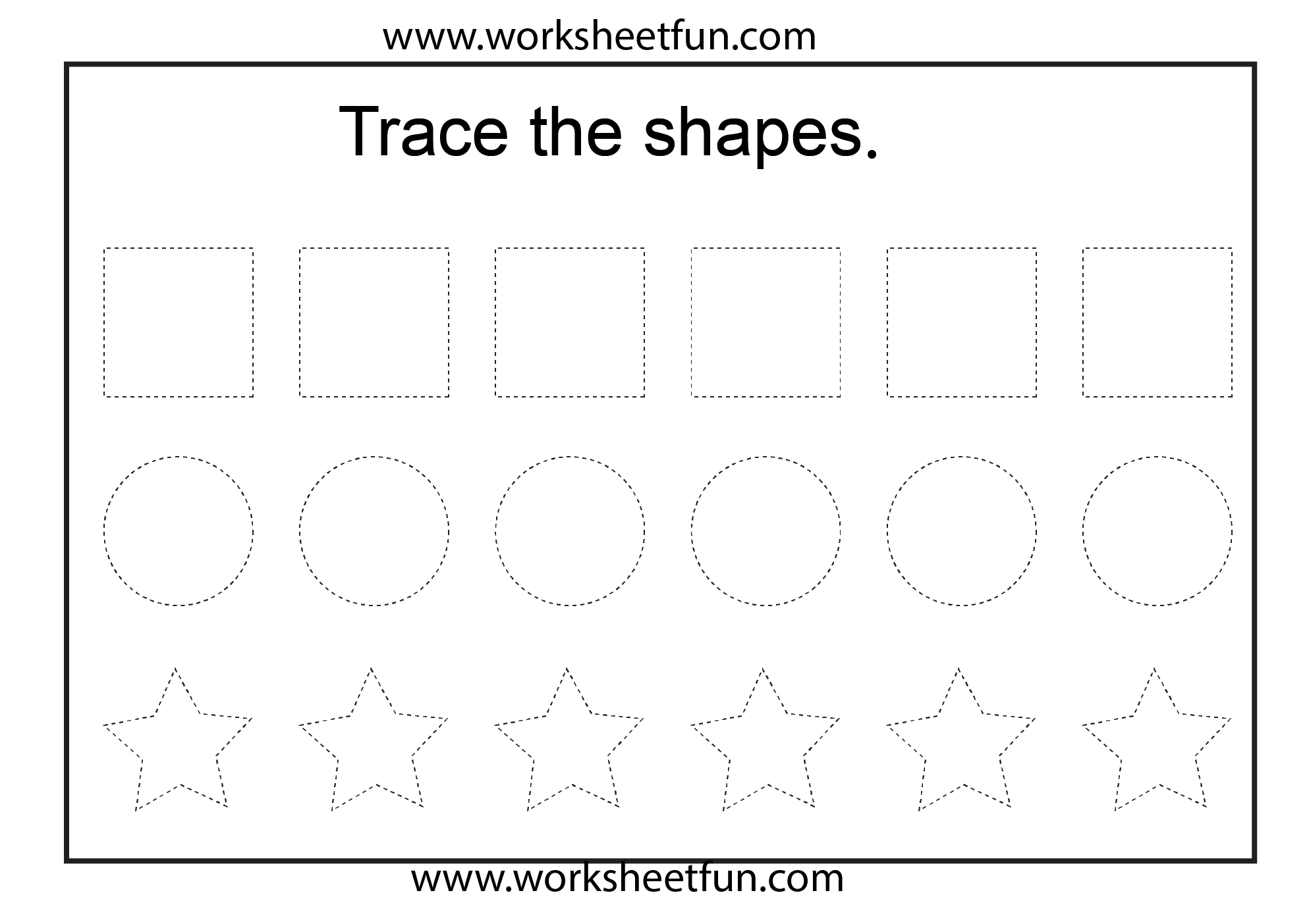 ... Worksheets Shapes, Free Printable Tracing Shapes Worksheets Preschool