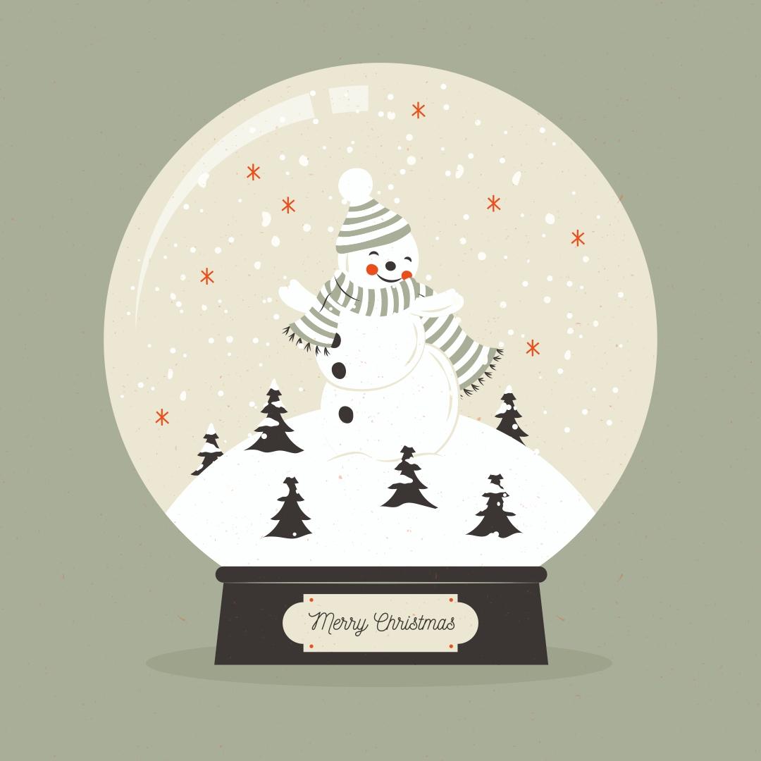 Vintage Christmas Printables Snowman