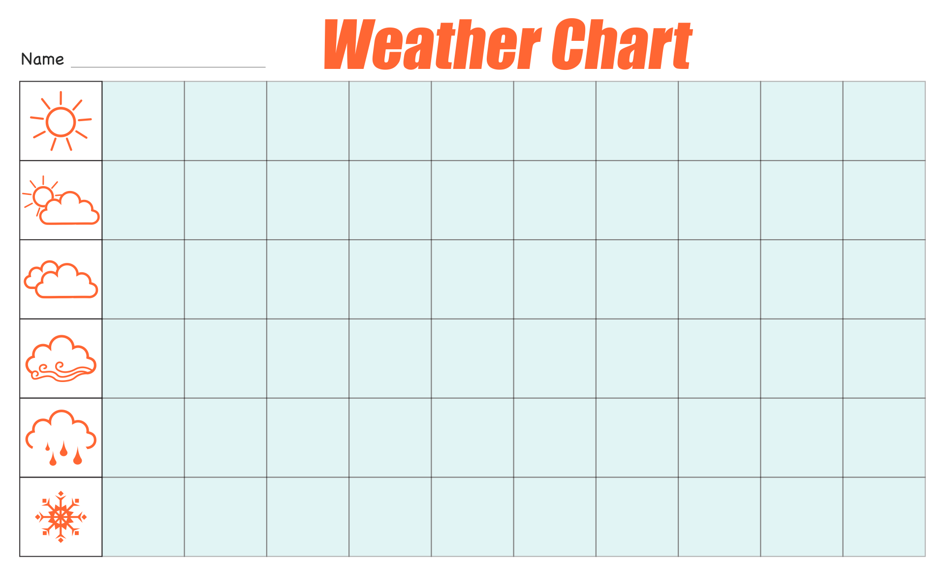 Weather Graphs Printables