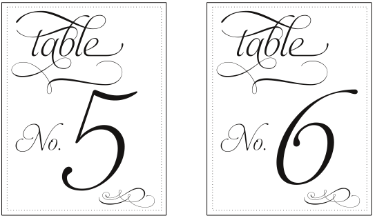 Number Names Worksheets free printable table number templates : 5 Best Images of Round Table Numbers Printable - Printable Table ...