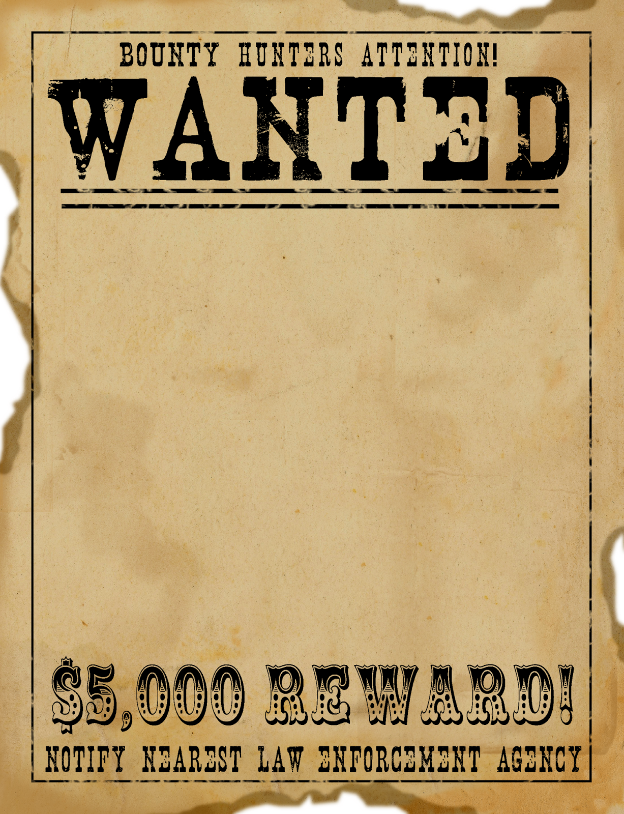 8 Images of Free Printable Western Wanted Sign