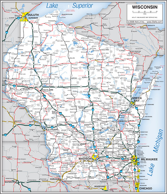 6 Best Images Of Wisconsin State Map Printable Printable