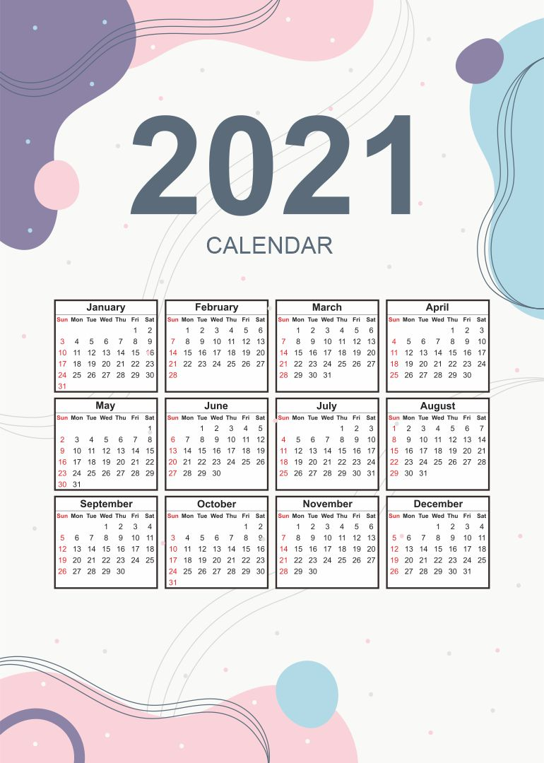 5 Best Images of 2021 Calendar Printable Free - 2021 ...