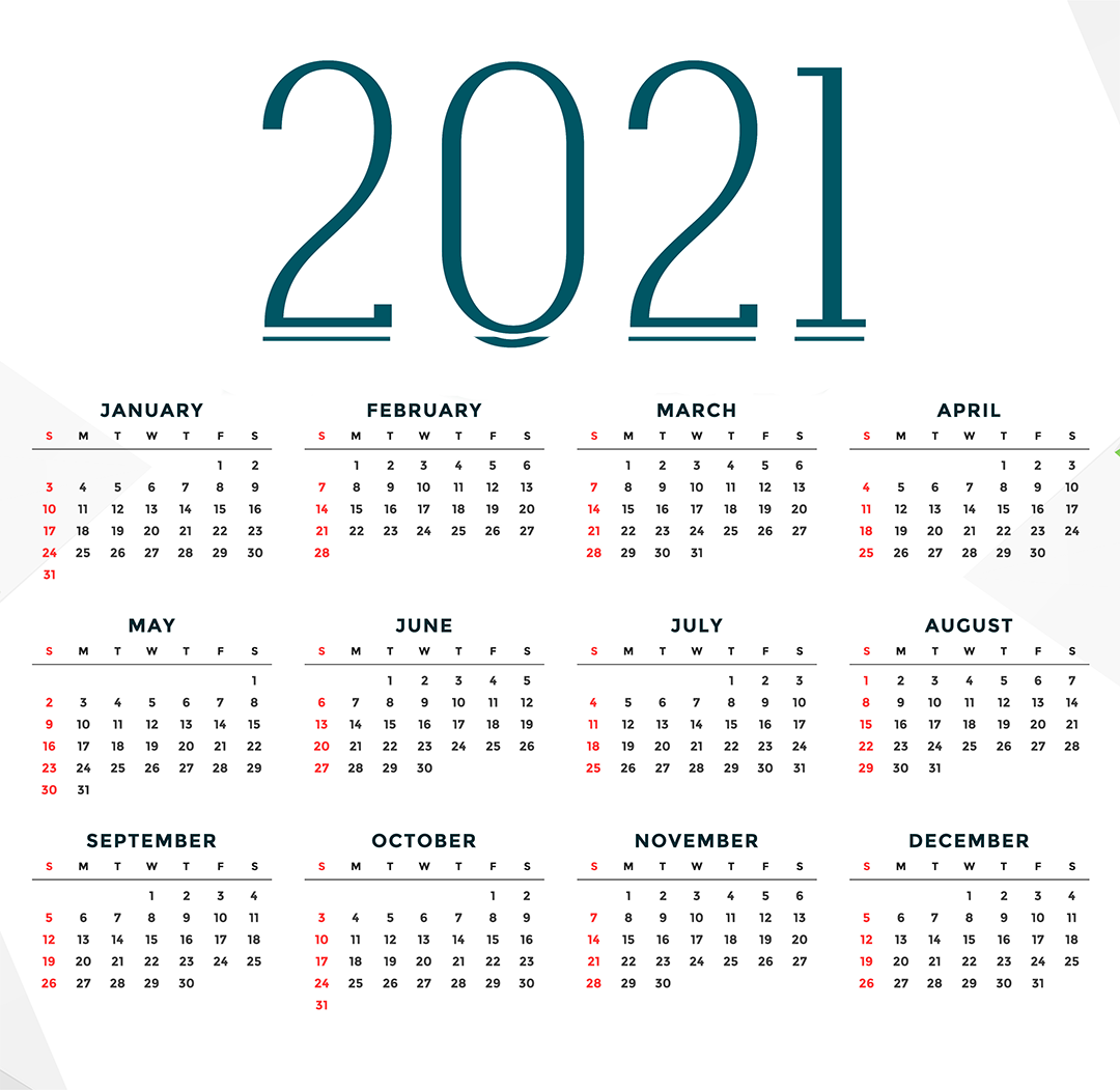 2021 Calendar 5 best images of 2021 calendar printable free - 2021 ...