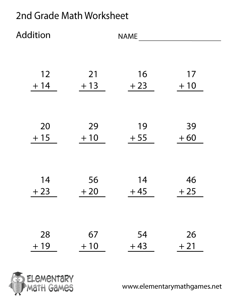Math Worksheets 2nd Grade - Synhoff