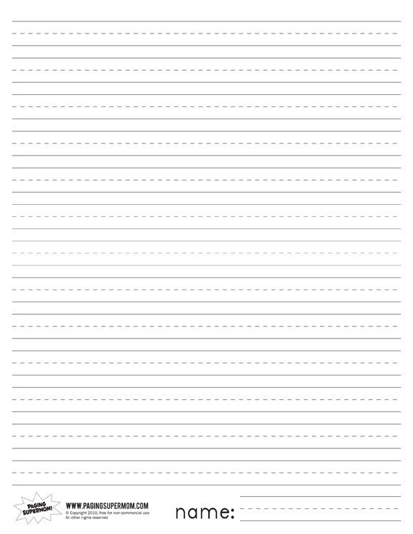 printable 1st grade writing paper Printable lined paper for home and  this useful scroll printable makes a super writing frame for many different projects and is available to print both lined.