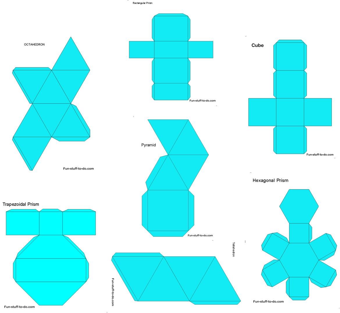 5 best images of make 3d shapes printable templates 3d How to make 3d shapes