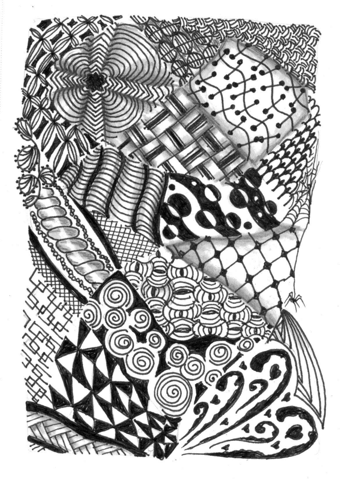 10 Best Images of Zentangle Animal Patterns Printable - Zentangle Animal Drawings, Printable ...