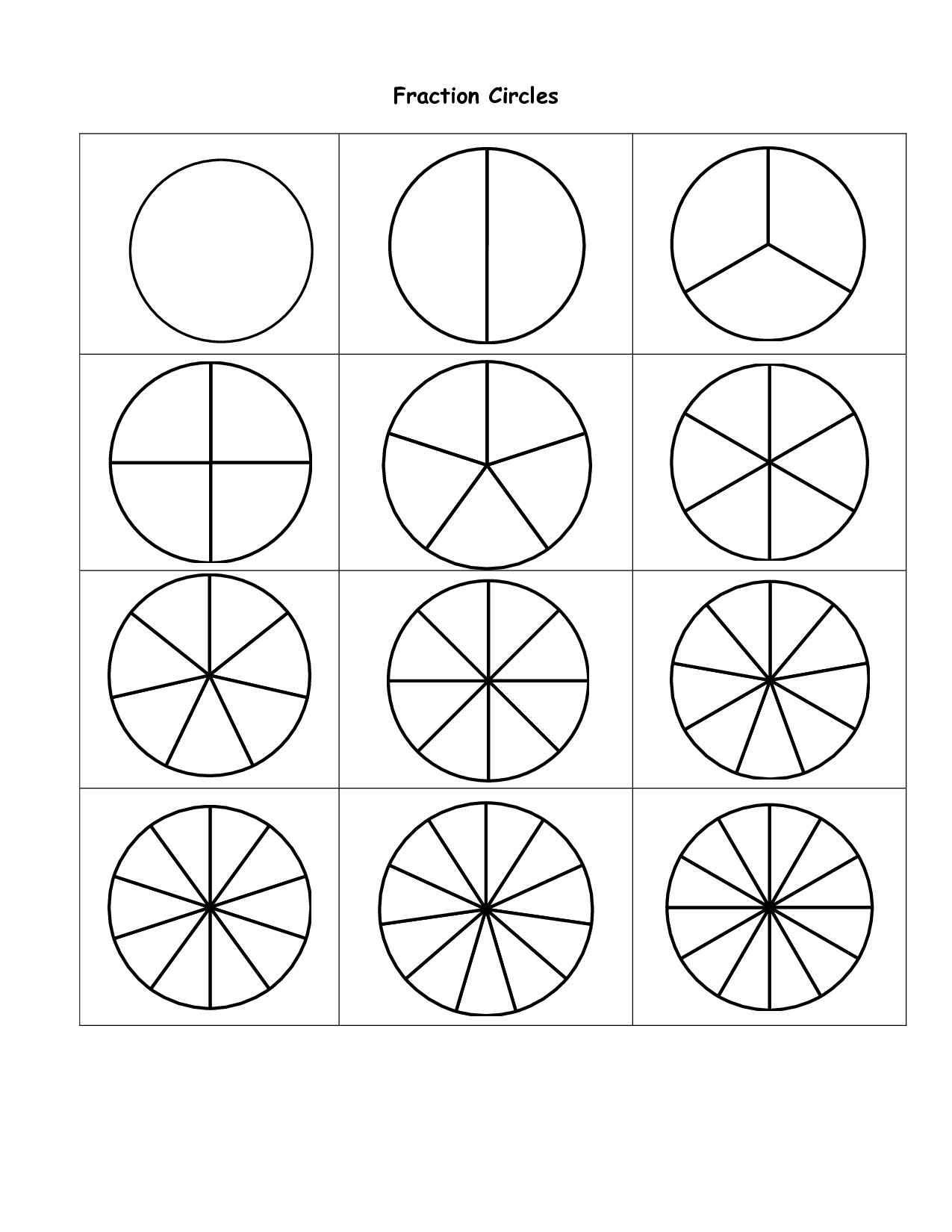 Fraction Pieces Template_jwcdRN7fDsmwv4k8sNR6k5uX0KJYQcdVpSEeIx228Fg on Circle Fraction Pieces