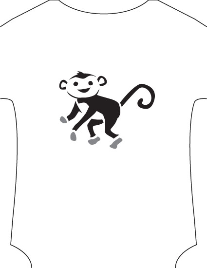 6 Images of Monkey Stencil Printable Free